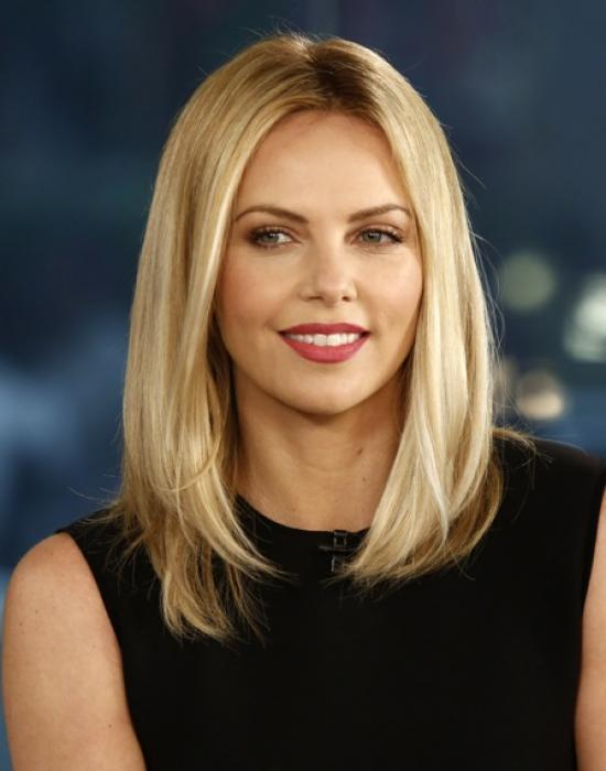 Charlize theron natural hair