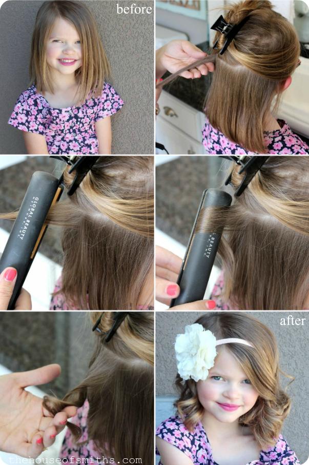 Как Сделать Прическу Девочке с Волнами с помощью Утюжка фото и видео инструкция