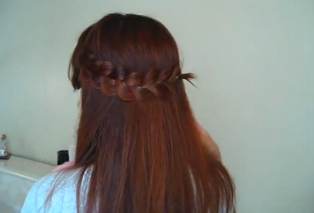 2 романтические ажурные косы по бокам фото и видео инструкции