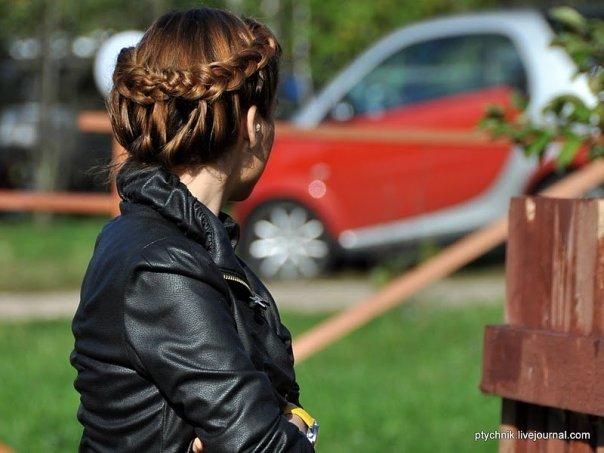 Прически Ксении Бородиной на разную длину волос фото