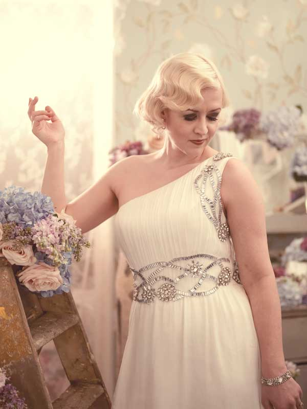 Винтажные Короткие Прически на Свадьбу в стиле 1920 годов фото