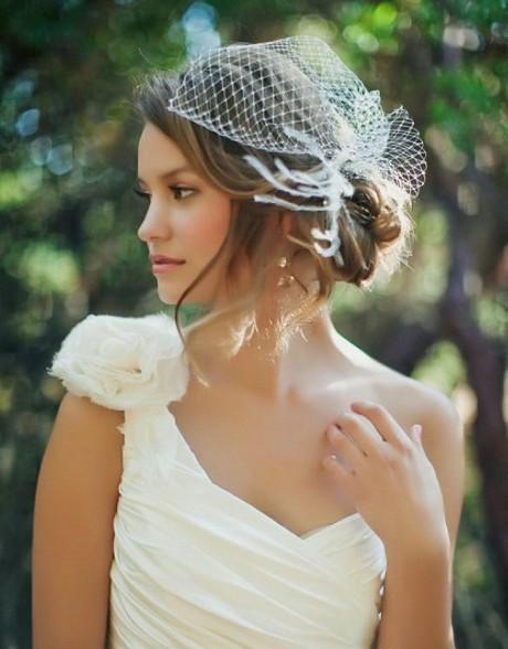 Красивые свадебные прически с вуалью