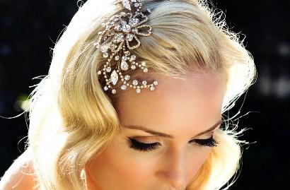 Средние свадебные прически – стиль винтаж