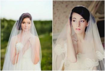 Свадебные Прически с Длинной Фатой на средние волосы фото варианты