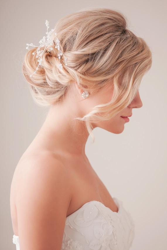 Быстрая и простая прическа для невесты фото-схема в картинках