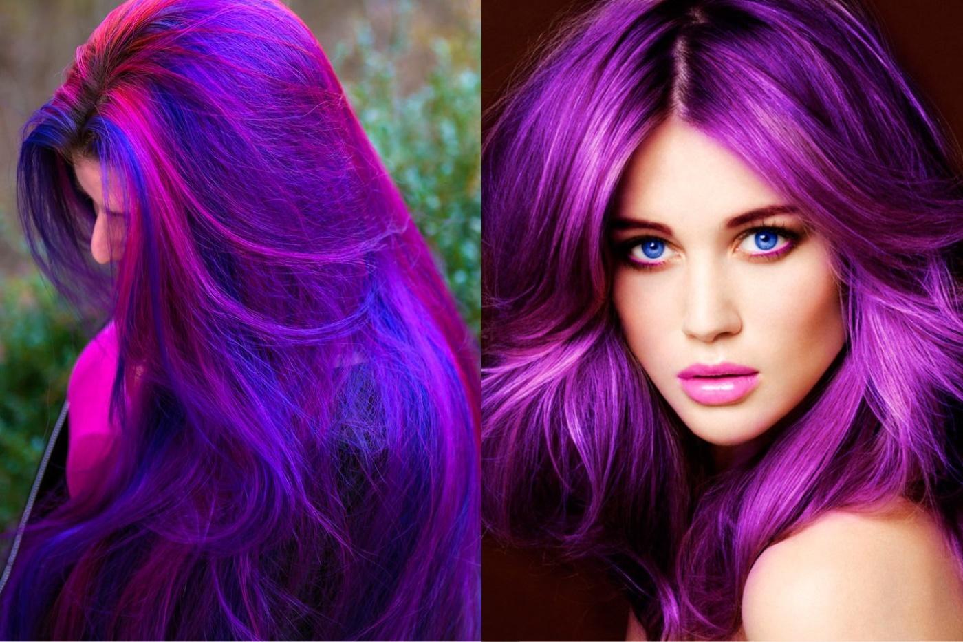 как можно наложить на фотографию фиолетовый цвет гардеробная позволит