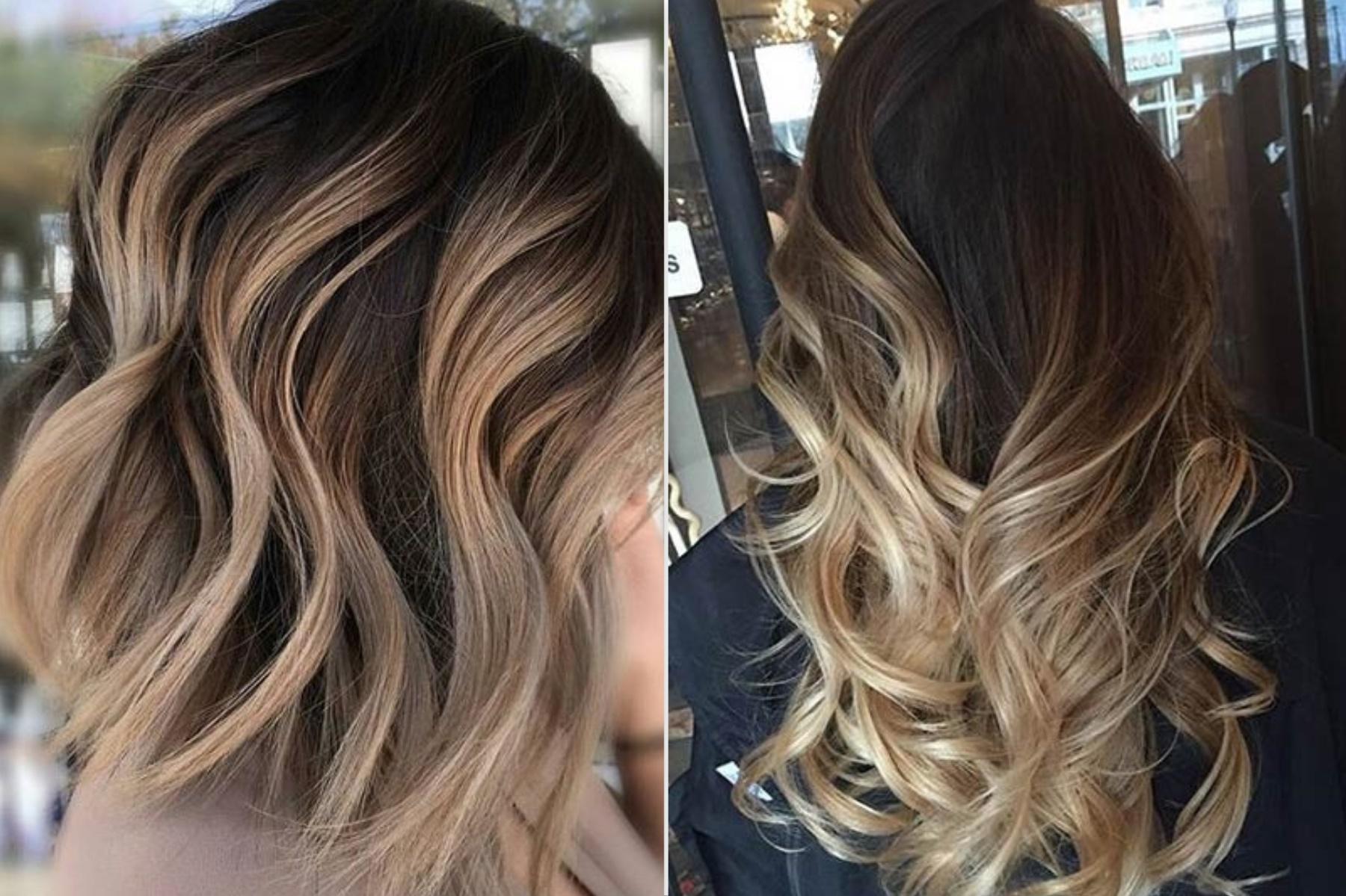 окраска волос балаяж фото на средние волосы кажется