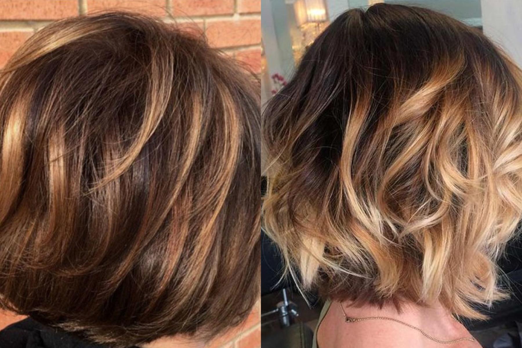 картинки техники балаяж на короткие волосы идеально