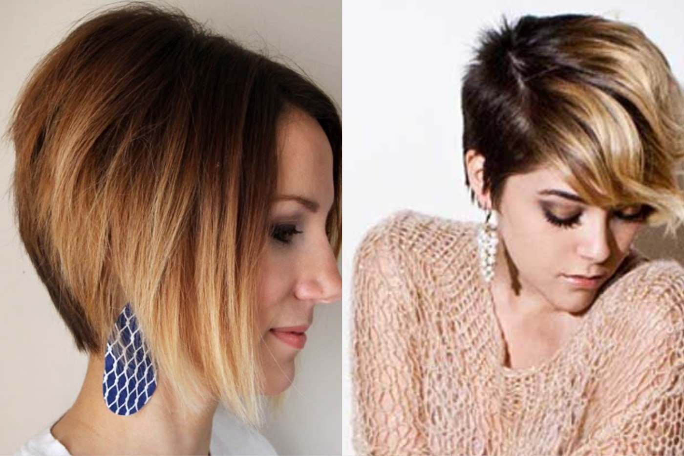 омбре наоборот на короткие волосы фото