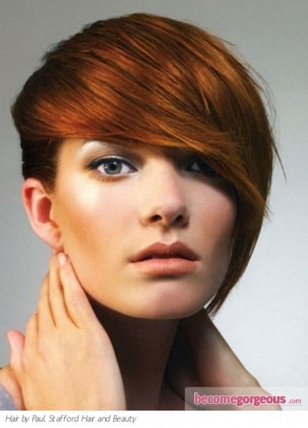 Прически на короткие волосы с удлиненной челкой фото эксперименты