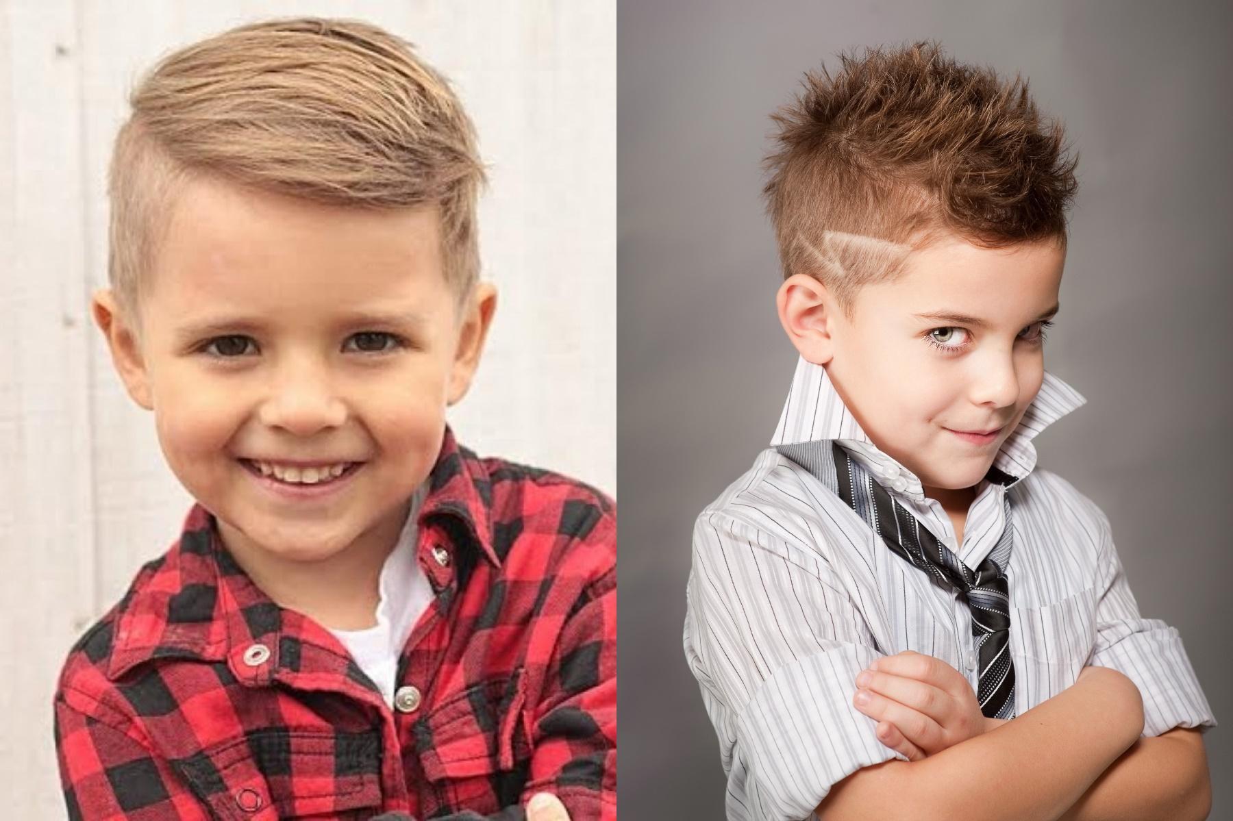 Модные детские стрижки для мальчиков и подростков фото